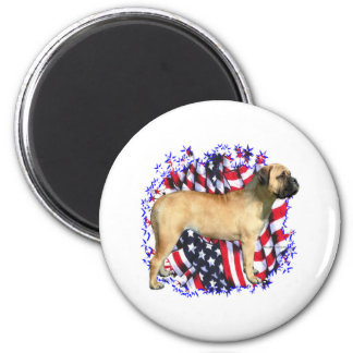 Bullmastiff Patriot 2 Inch Round Magnet
