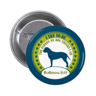 Bullmastiff Pinback Button