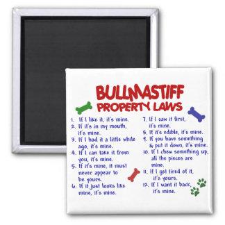 BULLMASTIFF Property Laws 2 2 Inch Square Magnet