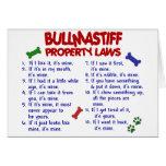 BULLMASTIFF Property Laws 2 Card