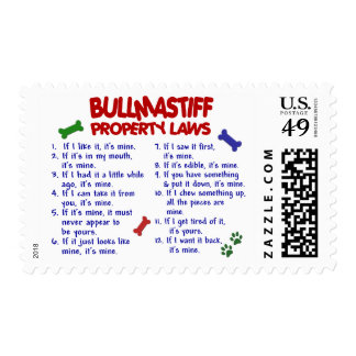 BULLMASTIFF Property Laws 2 Postage Stamps
