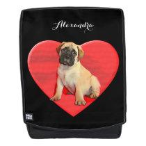 Bullmastiff puppy dog boldface backpack