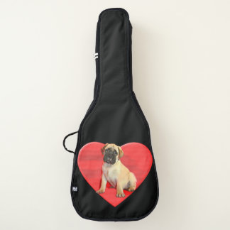 Bullmastiff puppy guitar case