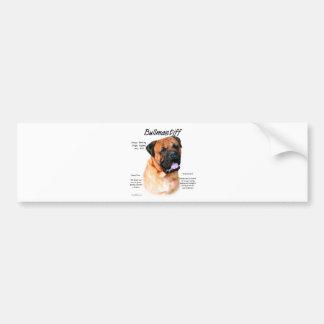 Bullmastiff red History Design Bumper Stickers
