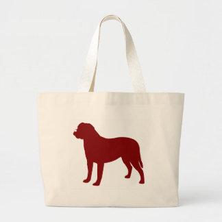 Bullmastiff (rojo) bolsa tela grande