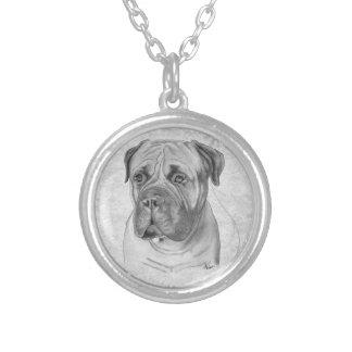Bullmastiff Round Pendant Necklace