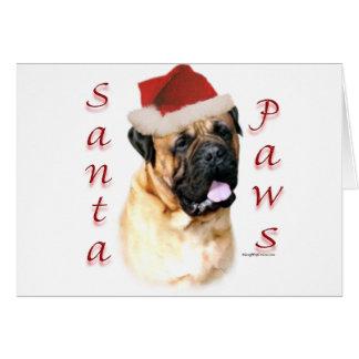 Bullmastiff Santa Paws Card