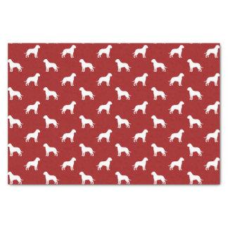 "Bullmastiff Silhouettes Pattern Red 10"" X 15"" Tissue Paper"