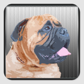 Bullmastiff Square Sticker