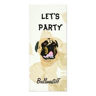 Bullmastiff Tan Leaves Card