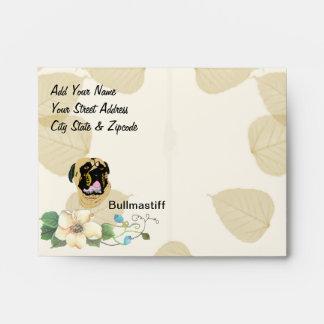 Bullmastiff Tan Leaves Envelope