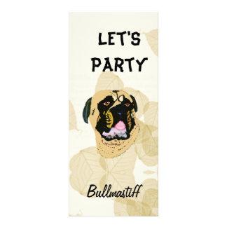 Bullmastiff Tan Leaves Custom Invitations
