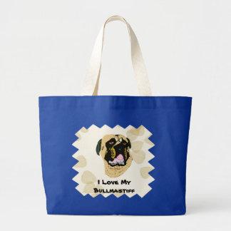 Bullmastiff Tan Leaves Large Tote Bag