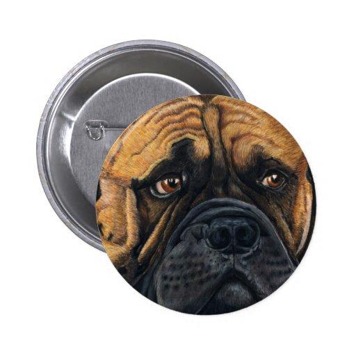 Bullmastiff Waiting - Dog Breed Art Pinback Buttons