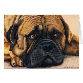Bullmastiff Waiting - Dog Breed Art Card