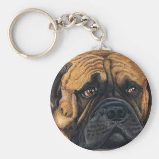 Bullmastiff Waiting - Dog Breed Art Keychain