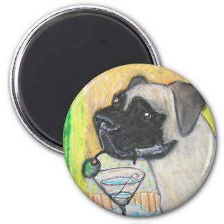 BullmastiffMartiniBreak1.jpg 2 Inch Round Magnet
