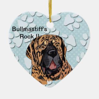Bullmastiff's Rock !! - Brindle Face Ornament
