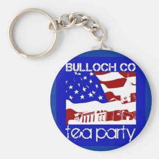 Bulloch Co. Tea Party key chain