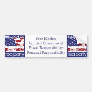 Bulloch TEA Principles bumper sticker. Bumper Sticker