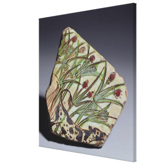 Bullock among papyrus reeds, New Kingdom (faience) Canvas Print