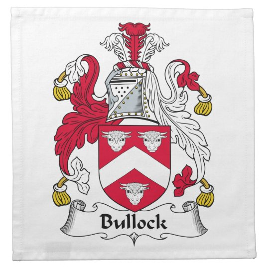 Bullock Family Crest Cloth Napkin