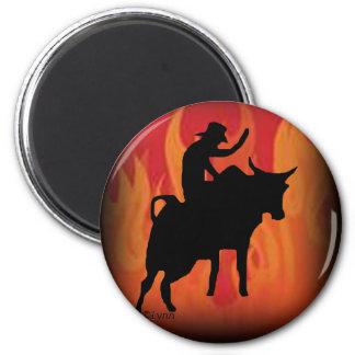 Bullrider 201 2 inch round magnet