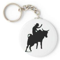 Bullrider 2 keychain
