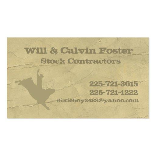 Bullrider Calling Card Business Card