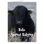 Bulls Against Bullying #1 of 7 Different Greeting Card