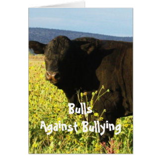 Bulls Against Bullying #2 of 7 Different Card