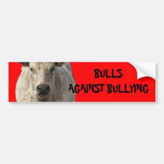 Bulls Against Bullying #4 of 14 Different Car Bumper Sticker
