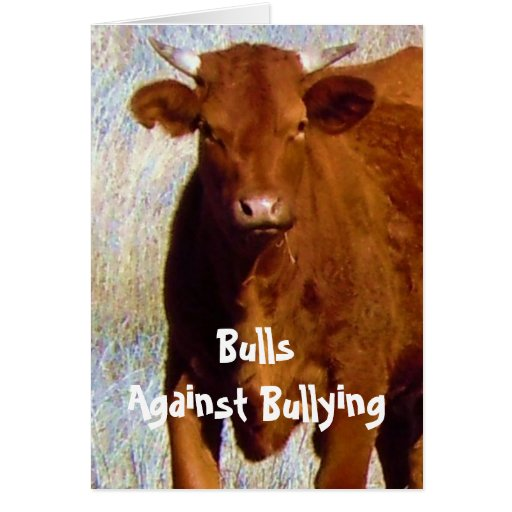 Bulls Against Bullying #4 of 7 Different Card