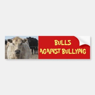 Bulls Against Bullying #5 of 14 Different Car Bumper Sticker