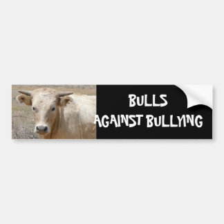 Bulls Against Bullying #8 of 14 Different Car Bumper Sticker