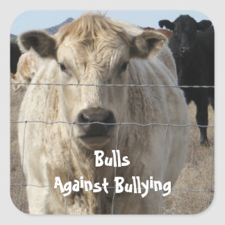 Bulls Against Bullying - Fences - Cowboy Parenting Square Sticker
