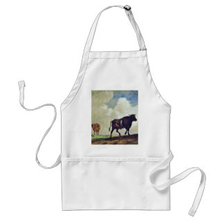 Bulls And Cows By Potter Paulus (Best Quality) Adult Apron