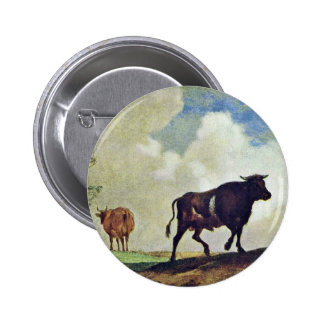 Bulls And Cows By Potter Paulus (Best Quality) Pins