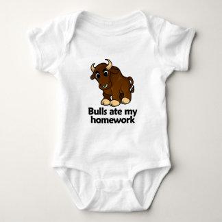 Bulls ate my homework baby bodysuit