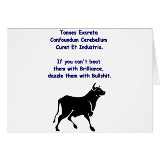 Bulls**** Card