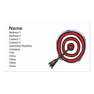 Bulls Eye 2 Double-Sided Standard Business Cards (Pack Of 100)