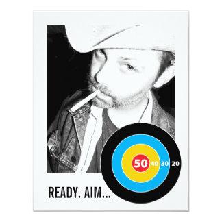 Bulls Eye 50th Birthday Invitation Target