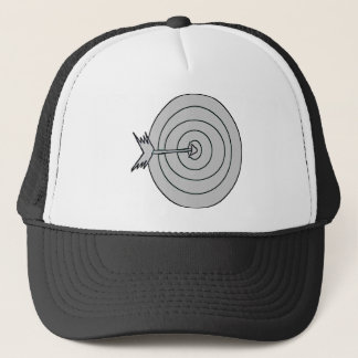 BULLS EYE AND ARROW TRUCKER HAT