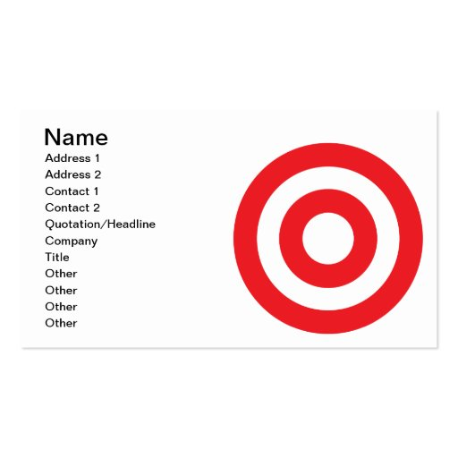 Bulls Eye Double-Sided Standard Business Cards (Pack Of 100)