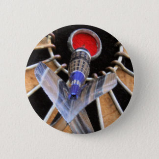 Bulls eye! Dart piercing board Button