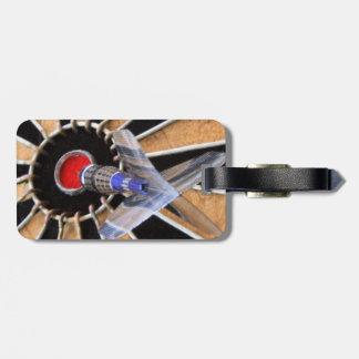 Bulls eye! Dart piercing board Luggage Tag