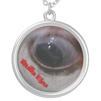Bulls Eye Funny Cow Necklace