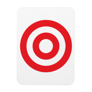 Bulls Eye Rectangular Photo Magnet