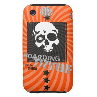 Bulls Eye Skull Skateboarding Graphic Tough iPhone 3 Cases