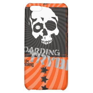 Bulls Eye Skull Skateboarding Graphic Cover For iPhone 5C